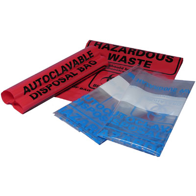 Autoclave bags, clear (31 x 66 cm), 200 bags/pk