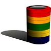 Labeling Tape, 1/2 inch, multi-color, large core