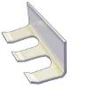 Pipettor Rack, Wall-mounted, Acrylic (2-slot)