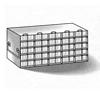 Microplate upright freezer rack (9 3/16 x 18 1/2 x 5 1/2 in.)