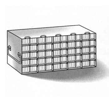 Microplate upright freezer rack (11 x 18 1/2 x 5 1/2 in.)
